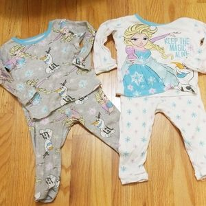Size 2T Disney Frozen pajamas, set of 2.